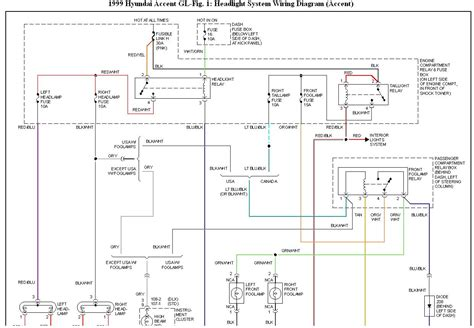 hyundai accent headlight wiring diagram wiring diagram