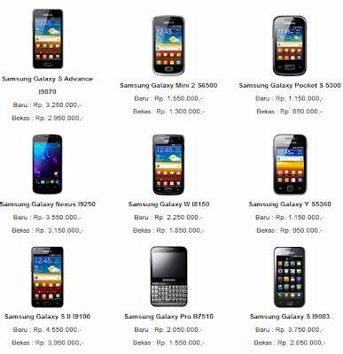 Hp Samsung Ukuran Besar spesifikasi dan harga samsung galaxy lengkap terbaru