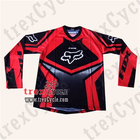 Kaos Fox Warna Merah by Toko Baju Jersey Sepeda Jual Jersey Downhill Fox Dan