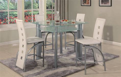 white 5 dining set white 5 pc metro counter height glass set dining room sets