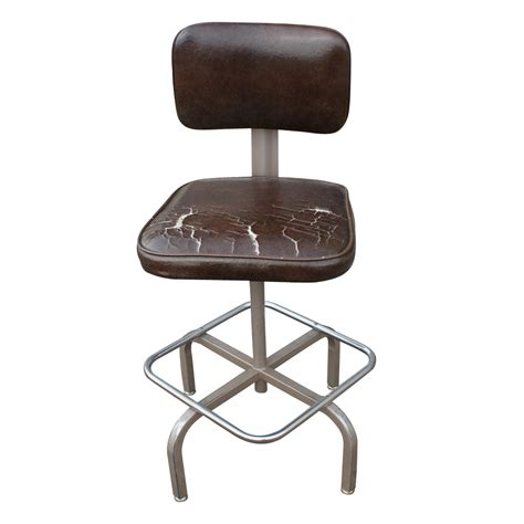 Drafters Stool by Vintage Industrial Drafting Stool Ebay