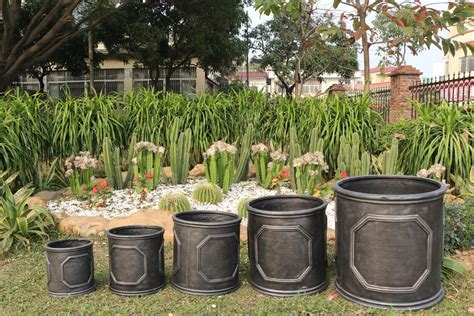 Outdoor Planters Cheap by Planter Chelsea Cylinder Plant Pot 38cm Lead Effect Barrel Style Garden Ebay