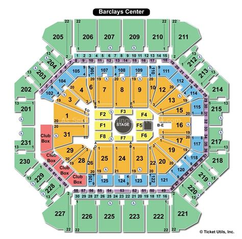 barclays center floor plan barclays center brooklyn ny seating chart view