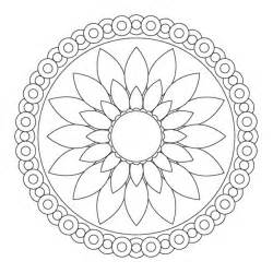 simple mandala coloring pages download print free