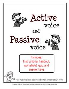 Business Letter Passive Voice Or Active Voice Active And Passive Voice Worksheets Quiz And Key Lesson Plan Syllabuy Co