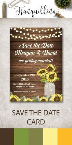 country style save the date cards rustic sunflower jar save the date postcards