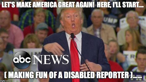 Disabled Meme - disgusting trump imgflip