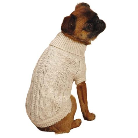 sweater for dogs lurex cable knit sweater creme brulee at baxterboo