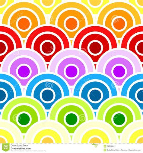 Seamless Rainbow Scaled Circles Stock Illustration Image