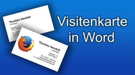 Word Vorlage Visitenkarten 85x54 visitenkarten selbst erstellen und gestalten