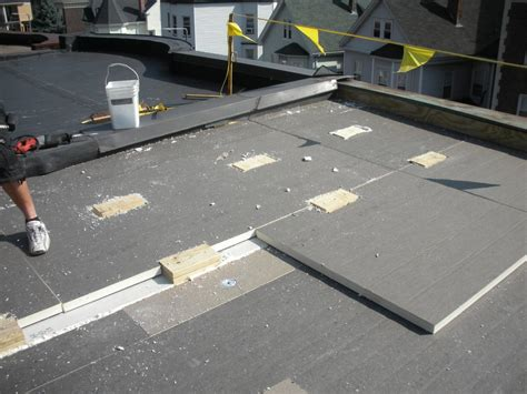 Flat Roof Installation Water Managed Roof Re Roofing And Adding Insulation