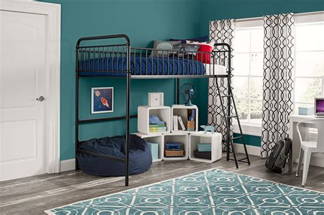 homes  gardens kelsey twin metal loft bed