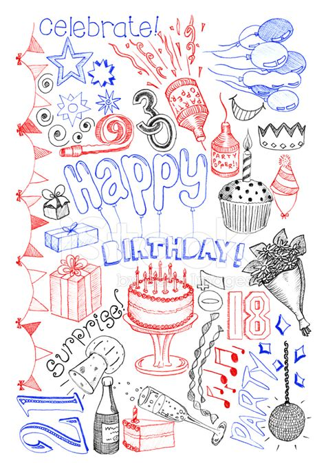 doodle for birthday birthday doodles stock photos freeimages