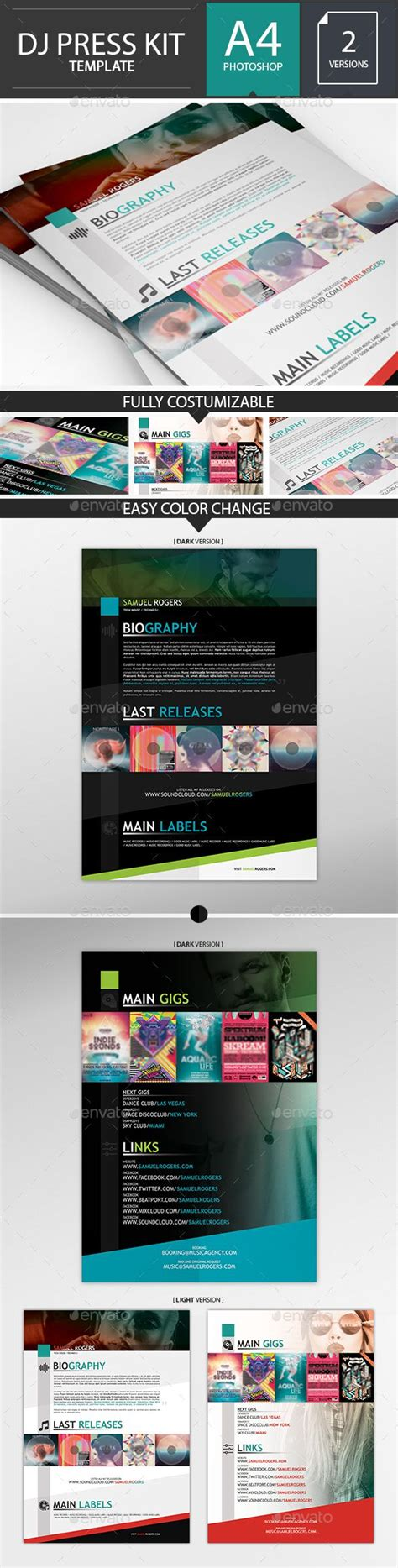 dj press kit template free best 25 press kits ideas on package design