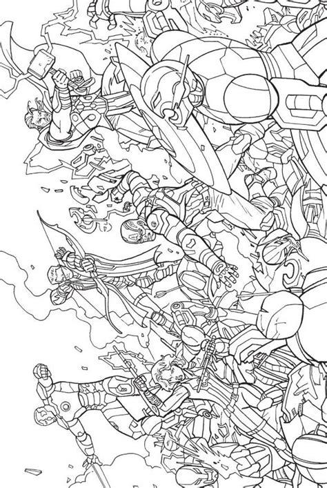Coloriage Avengers Rassemblement L