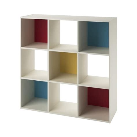 9 cube wood storage bookcase in white 7642500pcom