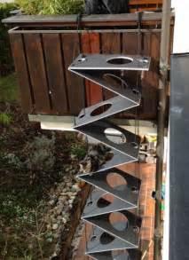 katzen treppe anthrazit falt katzenleiter katzentreppe cat ladders