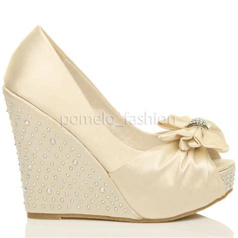 evening high heel shoes womens wedding evening bridal high heel wedge