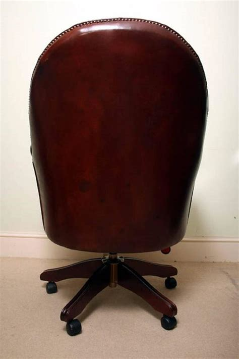 Handmade Leather Chairs - handmade leather directors desk chair for sale at