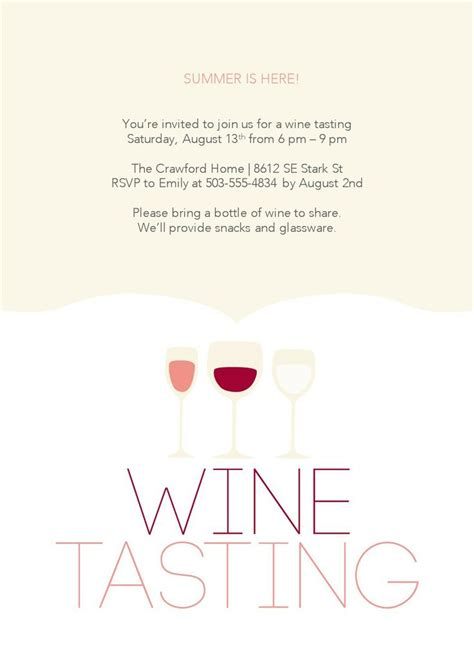 Wine Tasting Party Template Wine Tasting Invitations Free Etiquette Vin Pinterest Letter Wine Tasting Invitation Template Free