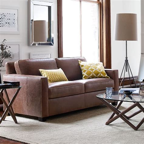 west elm henry leather sofa henry 174 leather sofa molasses west elm