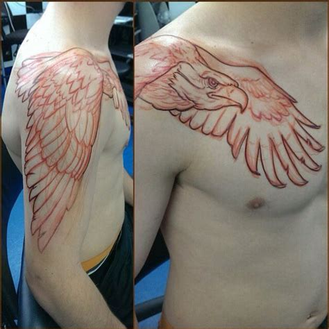 eagle chest tattoo designs awesome eagle for a shoulder ink