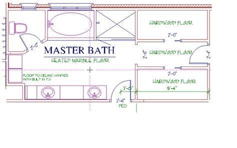 14 wonderful master bath dimensions house plans 57399