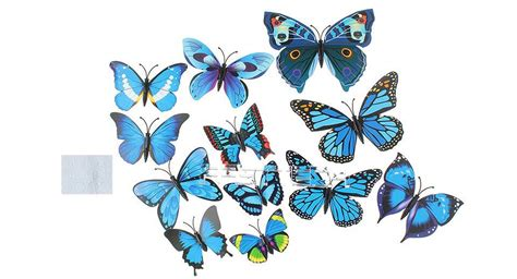 12 24 3d blue butterfly buy 3d butterfly styled wall sticker home decoration 12
