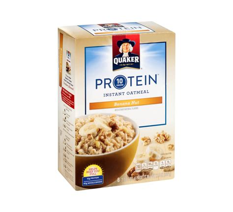 protein oatmeal quaker protein banana nut instant oatmeal