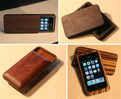 Handmade Iphone - handmade wooden iphone 3g cases ohgizmo