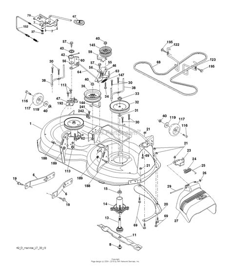 husqvarna lawn mower parts diagram husqvarna yth22v42 96043017300 2013 09 parts diagram