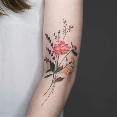 wildflower tattoos 30 absolutely gorgeous wildflower tattoos amazing