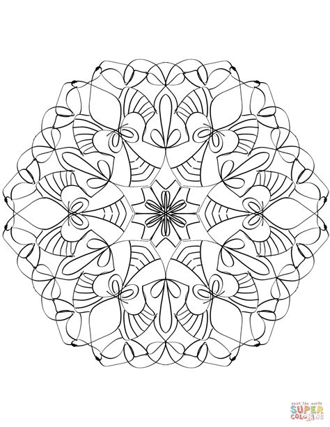 free abstract coloring pages abstract mandala coloring page free printable coloring pages