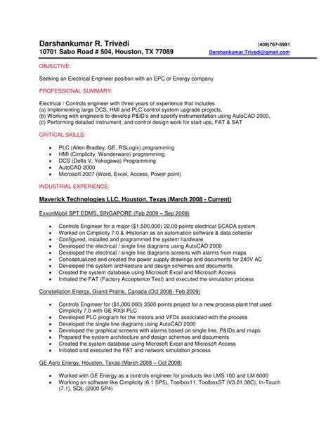 experienced instrumentation engineer resume format system engineer resume