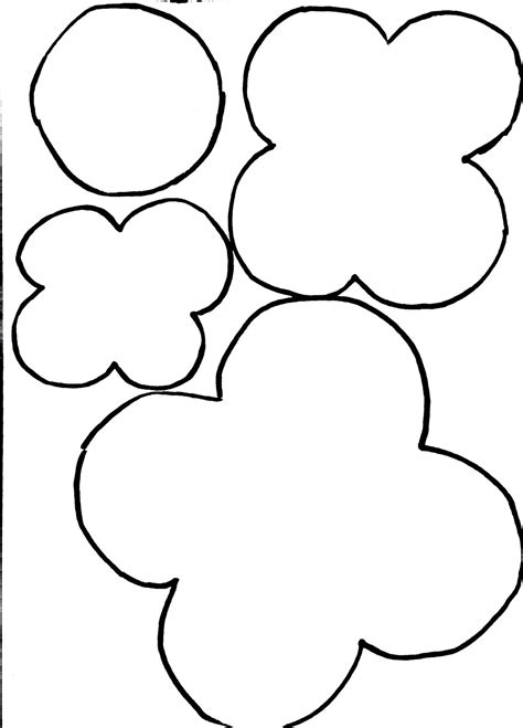 poppy template for children anzac poppy outline clipart best