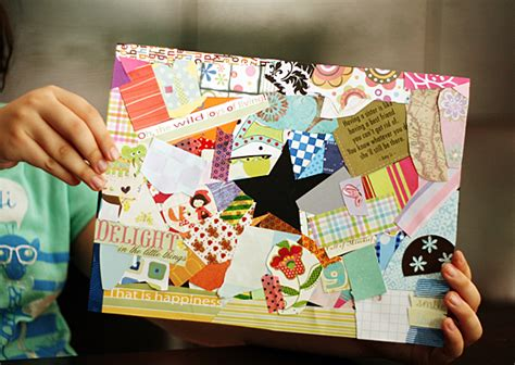 Make Paper Collages - negative shape collages make and takes