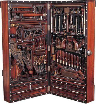 carpenters tool cabinet antique