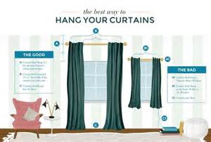 best way to hang a curtain rod the best way to hang your curtains handy smart