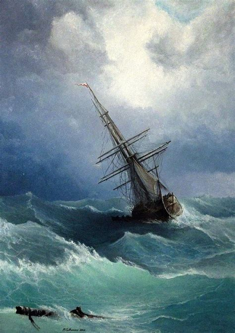sailboat in storm sail boat storm oil painting http lomets