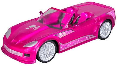 barbie cars with back barbie chrome pink crusin convertible corvette radio