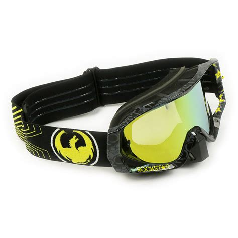 rockstar motocross goggles dragon new mx vendetta rockstar energy black gold tinted