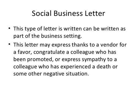 Social Business Letter Definition writing business letters