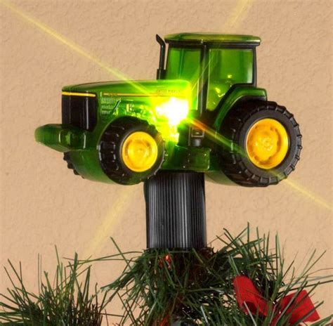john deere tractor christmas tree topper