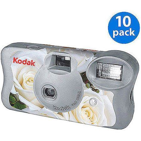 kodak white floral 'one time use' disposable film camera w