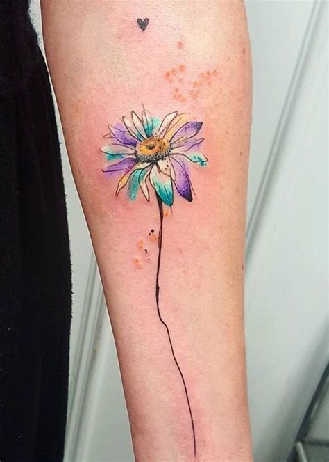 watercolor flower tattoo designs simona blanar watercolor flower eastern europe