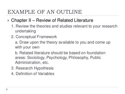 Thesis Chapter 2 Review Of Related Literature by Review Of Related Literature In Thesis Writing Apa Style Research Papers On Autism