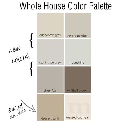 whole house color palette 2017 25 best ideas about pewter color on pinterest interior