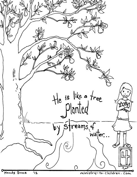 bible coloring pages by verse psalm 1 free coloring