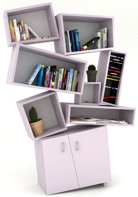 postmodern reading 4 deconstructivist bookcase designs