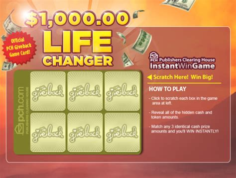 Publishers Clearing House 1000 A Day For Life - pch is proud to announce the give back is back pch blog